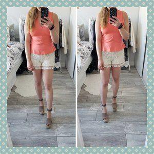 3/$30 - BNWT Mossimo Cream Lace Shorts